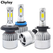 One Set H11 Led H1 H7 H4 H3 H8 HB3 HB4 9005 9006 LED Headlight Bulb 72W 8000LM 6500k Auto Car Headlamp Fog Light Bulbs 12V 24V(China)