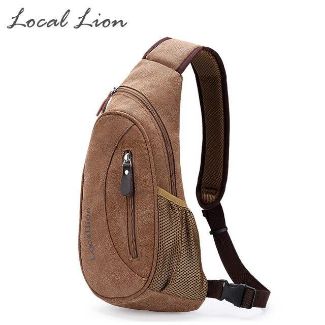 LOCAL LION Waterproof Canvas Cross-body Bag Unisex Chest Bags Fashion Shoulder Bag Casual  Women Men's Bags HQB1779