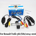 Para Renault Trafic 3o (X82) 2014 ~ 2016/RCA AUX Cable O Inalámbrica/HD CCD de Visión Nocturna/Coche Amplio Ángulo de La Lente Trasera Cámara de visión