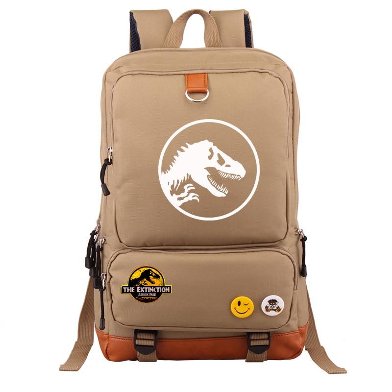 Image 5 - Multicolor Jurassic Dinosaur Skull Skeleton Boy Girl School bag  Women Bagpack Teenagers Schoolbags Canvas Men Student  BackpackBackpacks