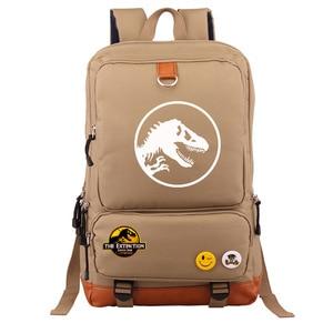 Image 5 - Multicolor Jurassic Dinosaur Skull Skeleton Boy Girl School bag Women Bagpack Teenagers Schoolbags Canvas Men Student Backpack