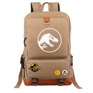 Image 5 - Multicolorido jurássico dinossauro crânio esqueleto menino menina saco de escola mulheres bagpack adolescentes mochilas lona mochila estudante