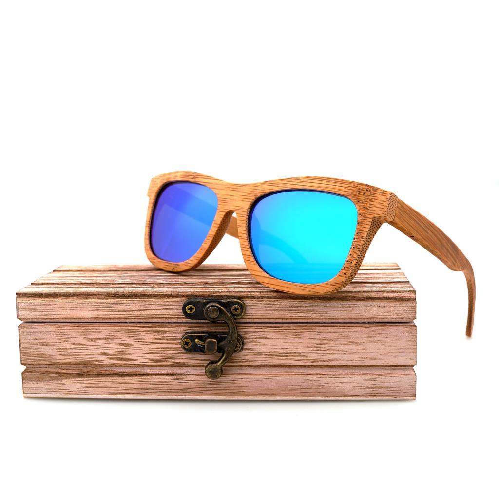 OIKE Holz Sonnenbrille Polarisierte Bambus Frauen Spiegel Holz Vintage Goggle Ovel Platz Skateboard Sonnenbrille Für Mann