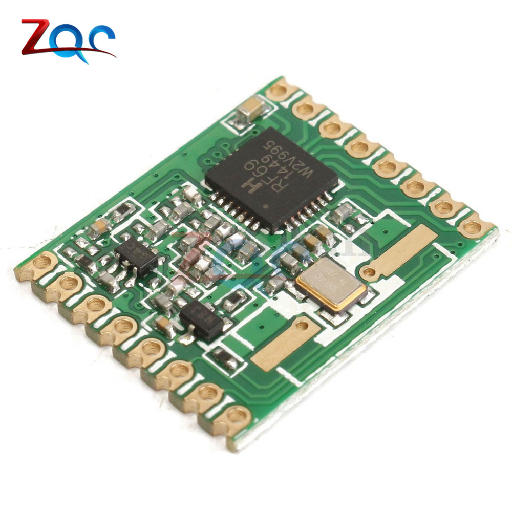 RFM69HW 868Mhz/433Mhz/915Mhz + 20dBm HopeRF Wireless Transceiver 868S2 Module For Remote/HM 433mhz 915mhz wireless module cc1310 serial transceiver fec error correction 433m patch type support two development