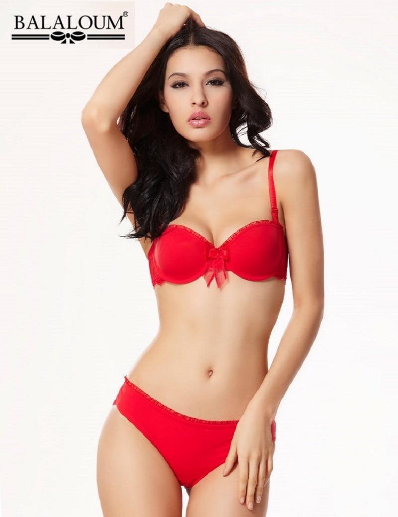 Fashion New Glossy Seamless Bra  Brief Sets Female -9945
