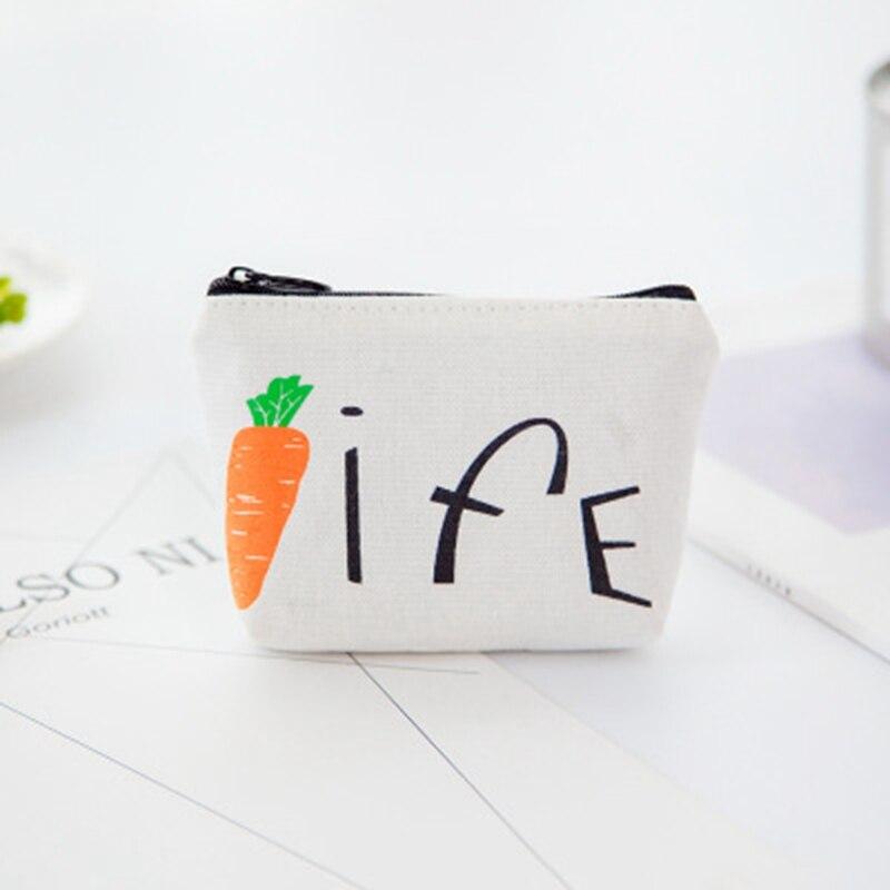 Новый Свежий ткань вегетарианство мило портмоне мультфильм творческий ключевой мешок мини изменить холщовый мешок