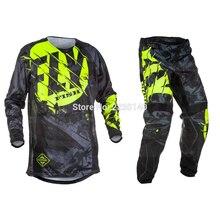 2017 volar pescado pantalones & pantalones Jersey Combos de Motocross MX traje de carreras de motocicleta Moto bicicleta de la suciedad MX ATV Gear Set