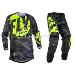 2017 Fly Vis Broek & Jersey Combo Motocross MX Racing Pak Motorfiets Moto Dirt Bike MX ATV Gear Set