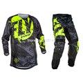 2017 voar calças de peixe & jérsei combos motocross mx corrida terno da motocicleta moto bicicleta sujeira mx atv conjunto engrenagem