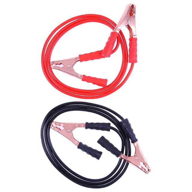 2pcs 500Amp Car Battery Jumper Cable Copper Wire Lgnition Wires ...