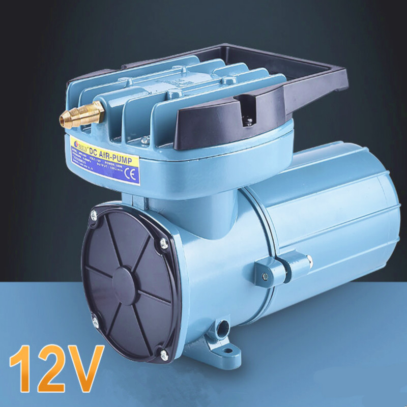 DC12V 80L/Min  oil free aquaculture air pump, aerator pump,fish pond electronic air pump manka care 12v dc 68l min 100w 2 5 bar pressure brushless medical vacuum pump silent pumps oil less oil free compressing pump