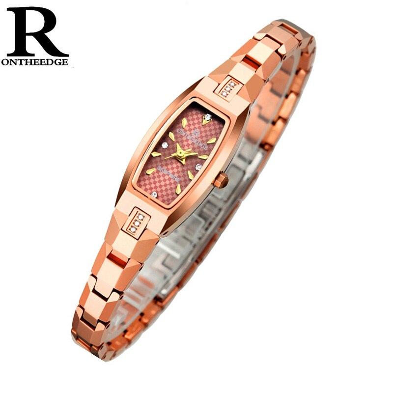 OnTheEdge femmes montre-bracelet chaude femme strass étanche montre à Quartz nouvelle mode Ultra mince montre pour filles dames 2018