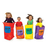 6PCS LOT Kids Jumping Bag Nylong Colorful Outdoor Toy Sports Kindergarten Group Team Interactive Games Jumping
