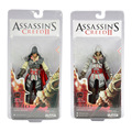 "Envío gratis genuino NECA assassins Creed II EZIO negro y blanco 7 "" acción PVC Figure juguetes muñecas modelo Chritmas regalo #AC012"