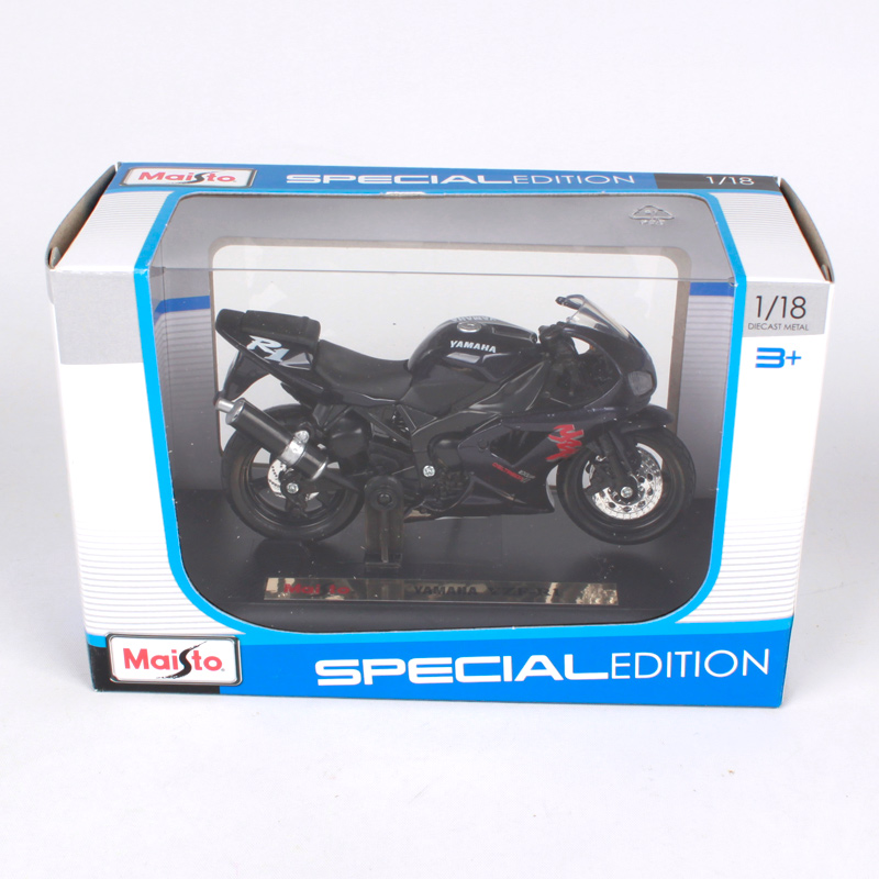 Купить с кэшбэком Maisto 1:18 YZF-R1 black motorcycle diecast for yamaha motorcycle model for men motorbike for collecting 321