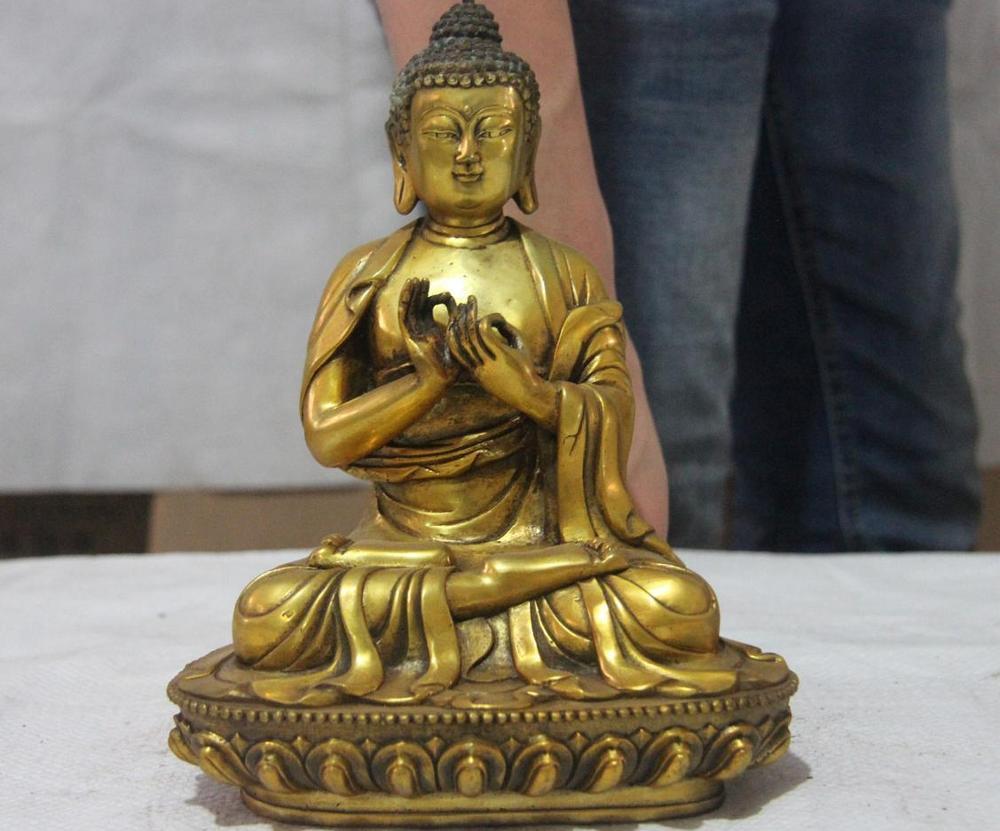 Chinese Buddhism copper Bronze Mahavairocana Tathagata Sakyamuni Buddha statue|Statues & Sculptures| |  -