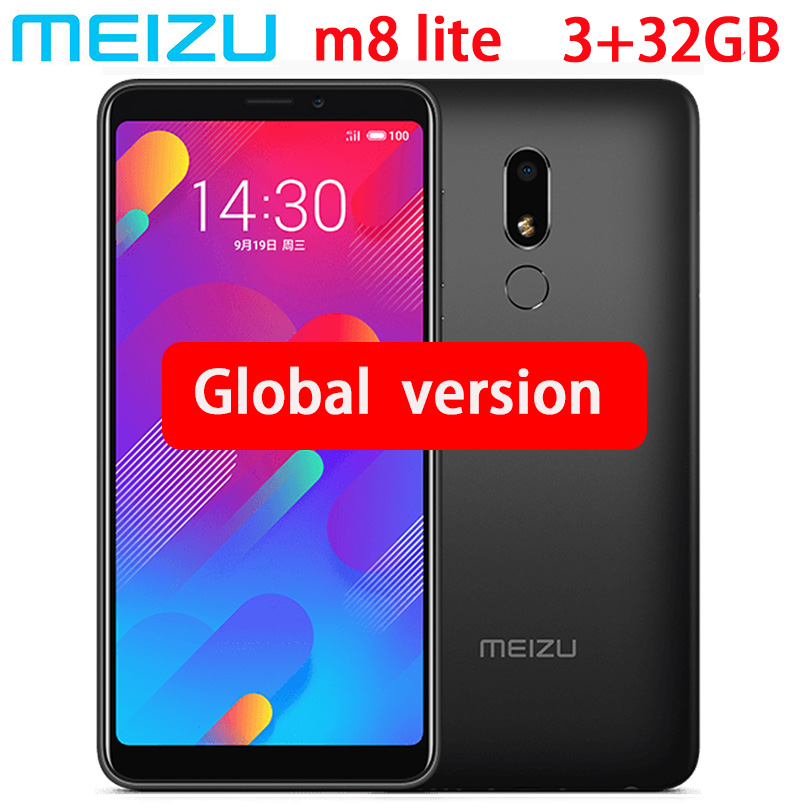 Original Meizu M8 lite 4G LTE 3GB 32GB MTK6739 Quad Core Mobile Phone 5 7inch HD