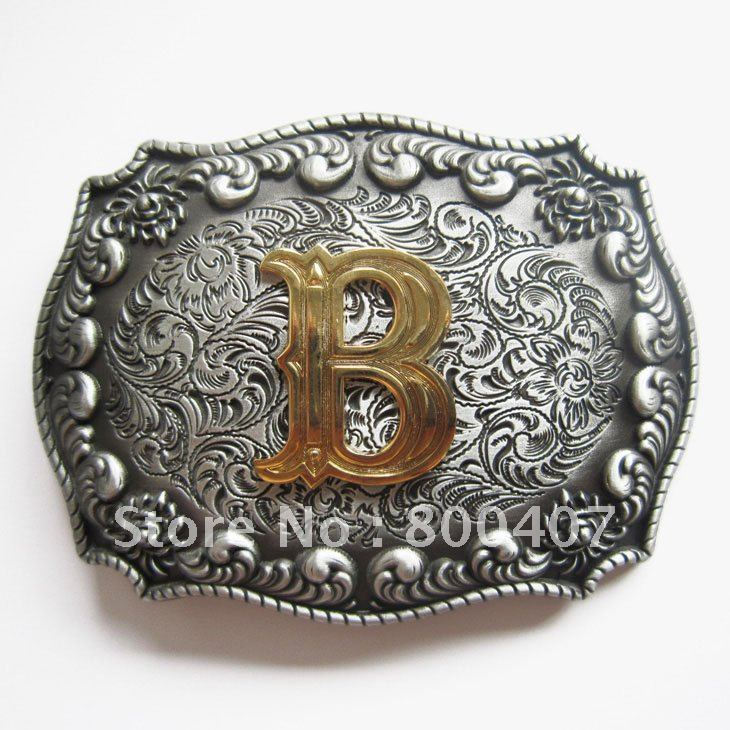 Letter belt buckles wholesale