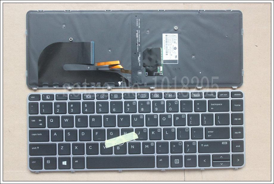 Prix pour Original Nouveau Pour HP EliteBook 840 G3 836308-001 821177-001 US Rétroéclairé clavier d'ordinateur portable NSK-CY2BV