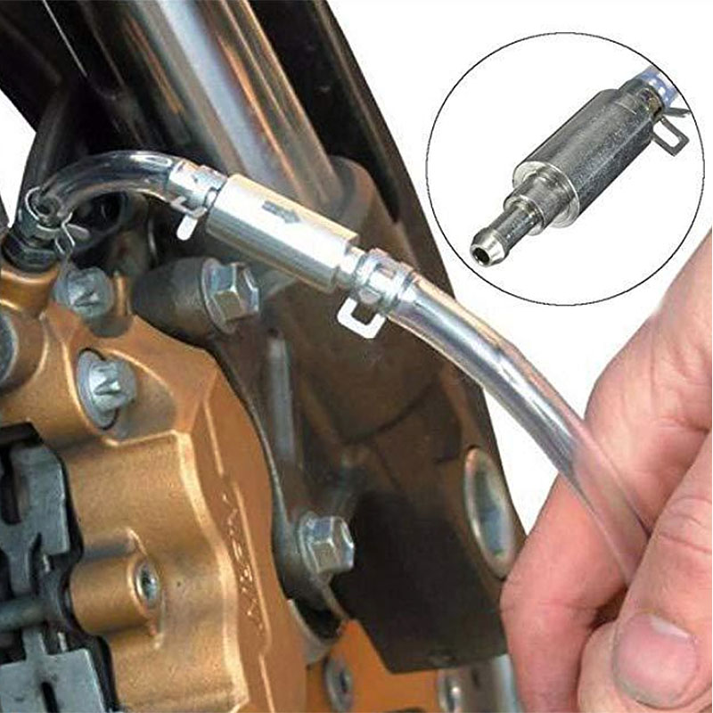 Car Hydraulic Brake Bleeder Clutch Tool Kit Auto Vehicle Motorcycle Oil Pump Oil Bleeding Replacement Adapter Hose 080143