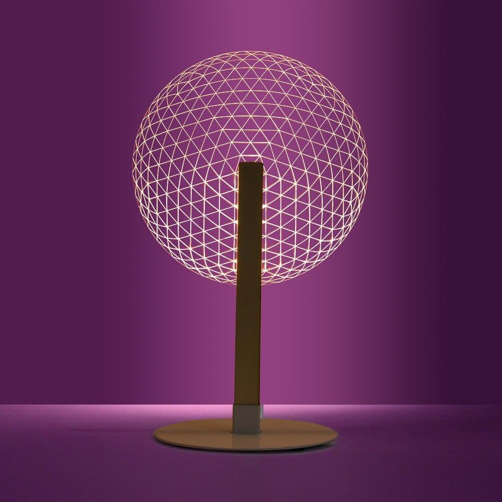 1 pezzo 3D Effetto Fiore Lampada Da Tavolo di Lettura Della Novità HA CONDOTTO LA Luce di Notte Con La Luminoso Paralumi 3D Optical Illusion Luce