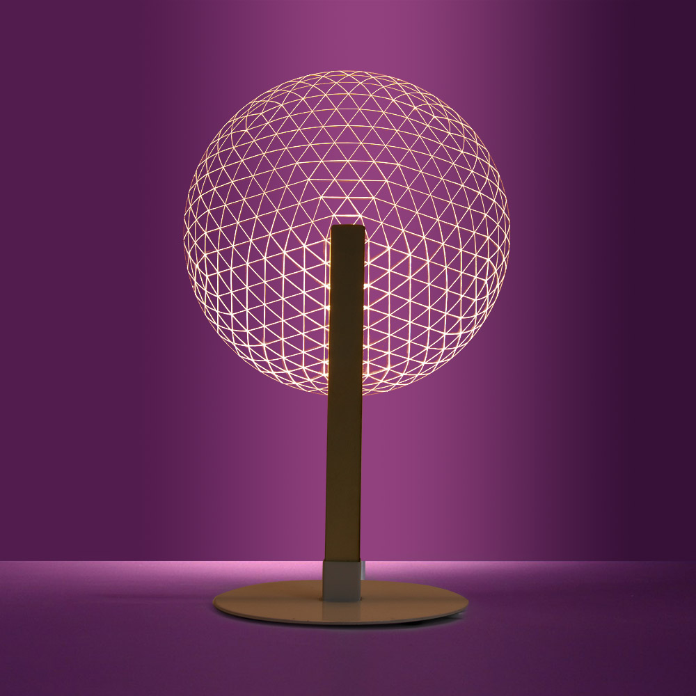 1Piece 3D Effect Bloom Table Lamp Reading Novelty LED Night Light With Luminous Lampshades 3D Optical Illusion Light