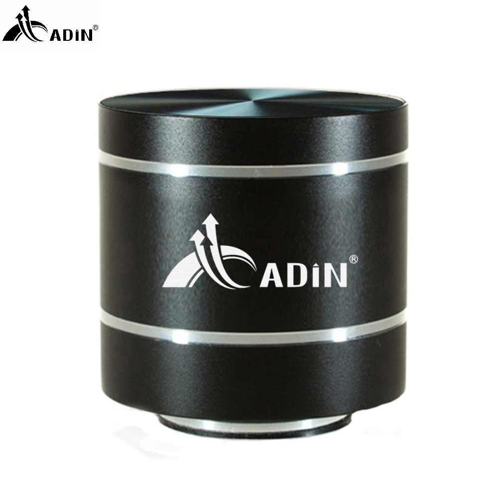 New Adin Hifi Metal Vibration Speaker Mini Portable 5w Small Fm Radio Gallery Image