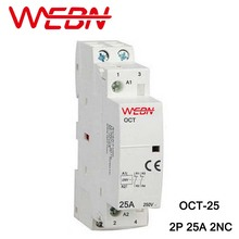 цена на OCT Series AC Household Contactor 230V 50/60Hz 2P 25A 2NC Two Normal Close Contact Din Rail Contactor