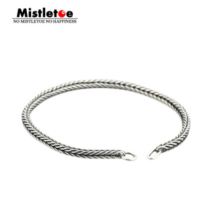 Authentic 925 Sterling Silver Bracelet Women Fox tail Bracelet Or Necklace Chain Fit Eurpeon European Jewelry(China)