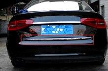 Цельнокроеное платье Нержавеющаясталь Интимные аксессуары автомобиль задний багажник крышка загрузки Нижняя отделка для Audi A4 B8 2013 2014 2015 стайлинга автомобилей