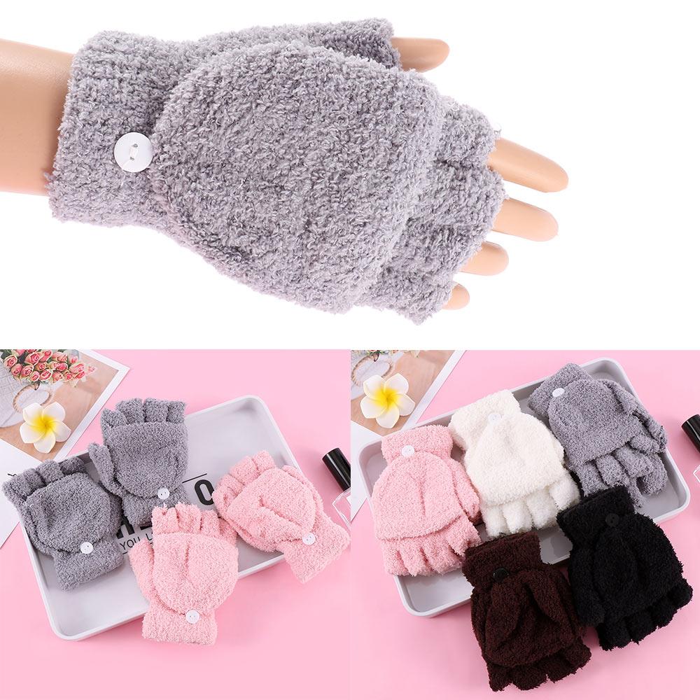 1 Pair Lovely Warmer Winter Neccessity Fingerless Gloves Women's Ladies Hand Wrist New Clothing Accessories
