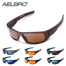 AIELBRO Men Cycling Glasses Outdoor Sport Mountain Bike Bicycle Motorcycle Fishing Sunglasses Oculos De Ciclismo