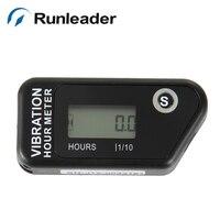 Runleader impermeable cronómetro restaurable indicador moto jet ski bici de la suciedad de la motocicleta del cronómetro del contador