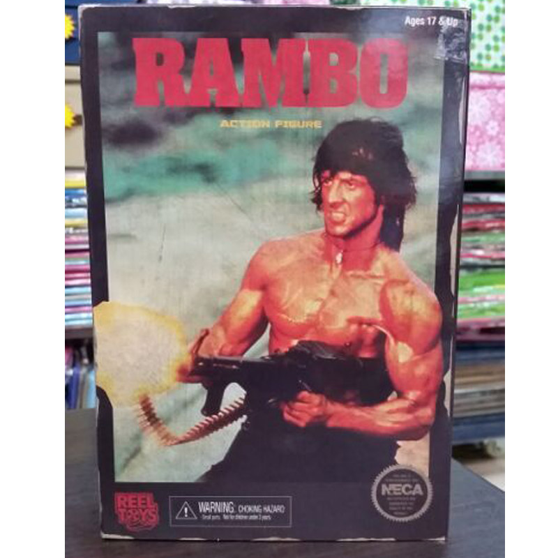 NECA RAMBO First Blood Part II Action Figure 7 Classic Video Game Appearance Collectible Model Toy фигурки игрушки neca planet of the apes 7 action figure classic gorilla soldier 2 pack