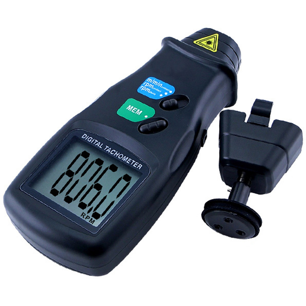 Digital 2 in 1 LASER Sensor Photo & Contact Tachometer Tach 99 999 RPM Range Rotational Surface Speed база под макияж isadora under cover face primer 30 мл