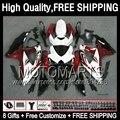 8Gift+ For SUZUKI GSXR750 Red white 08 09 10  4JK846 08-10 GSXR 600 750 K8 GSX R600 R750 Dark red black 2008 2009 2010 Fairing