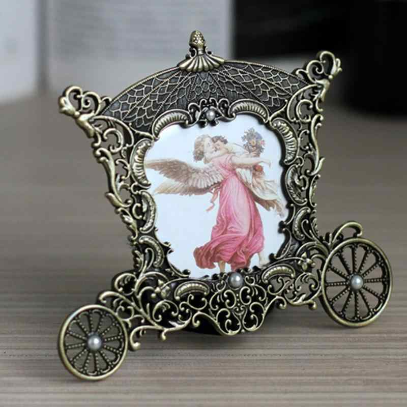"AsyPets Vintage Metal Carriage Photo Frame - 3""x 3"" Decorative Picture Frames - Great Baby Gift & Wedding Gift-35"