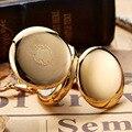 Роскошные Механические карманные часы золотого цвета для мужчин и женщин  часы с каркасным циферблатом и откидным циферблатом золотого цве...