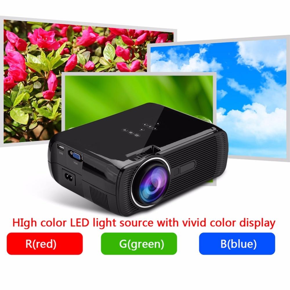 100-240V Mini Projector 1080P HD Home Theater with HDMI USB SD VGA AV TV Port Black AU Plug Supports 23 Languages gp802a mini portable led projector 200 lumens 480 320 pixels contrast ratio 600 1 with hdmi vga usb av tv sd port home theater