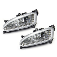 1 Pair 2Pcs 12V LED Car Daytime Running Light White Fog Light Assembly Waterproof Automotive Lamp