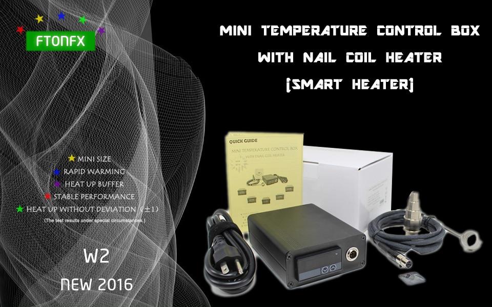 NEW 2016 W2 Contain Titanium nail MINI TEMPERATURE CONTROL BOX nail coil heater titanium nail