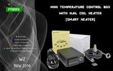 (ใหม่2016, W2,มีไทเทเนียมเล็บ)มินิกล่องควบคุมอุณหภูมิ,เล็บเครื่องทำขดลวดไทเทเนียมเล็บบุหรี่อิเล็กทรอนิกส์