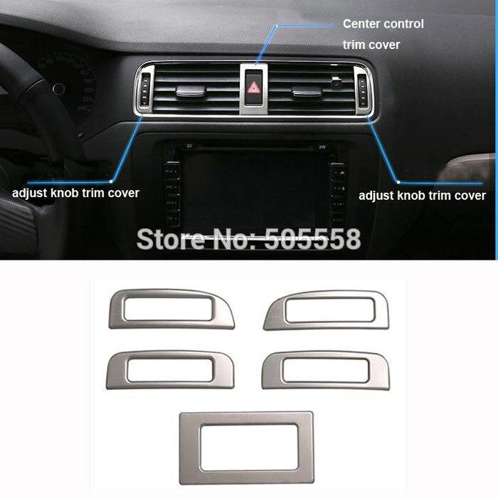 FOR VW VOLKSWAGEN JETTA MK6 AIR CONDITION OUTLET VENT ADJUST KNOB SWITCH TRIM COVER STICKER AUTO ACCESSOIRIES 5PCS/SET