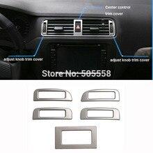 Для VW VOLKSWAGEN JETTA MK6 кондиционер выходное отверстие для регулировки Ручка переключателя накладка наклейка авто фурнитуры 5 шт./компл