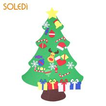 non woven mini xmas tree beautiful felt christmas tree decoration gift artificial christmas tree hanging - Pictures Of Christmas Trees Decorated Beautifully