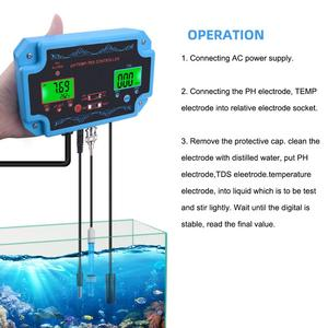 Image 5 - yieryi 3 in 1 pH/TDS/TEMP Water Quality Detector pH Controller with Electrode BNC Type Probe Water Quality Tester for Aquarium