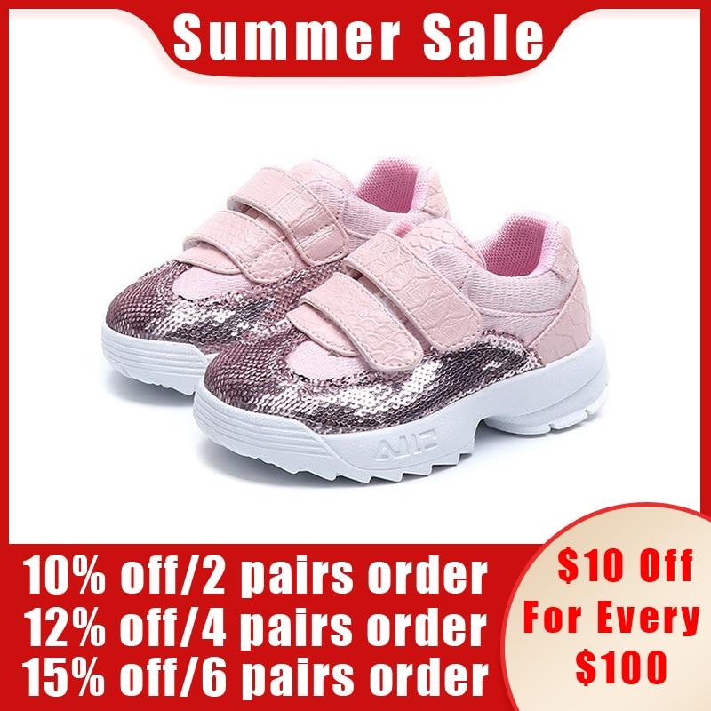 185de9c67 CCTWINS niños de la primavera de 2018 de los niños de moda brillo de  zapatos de bebé de cuero de la Pu zapatillas de deporte casuales chica  negro marca ...