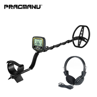 PRACMANU Professional Metal Detector Underground Depth 2.5m Scanner Search Finder Gold Detector Treasure Hunter Detecting
