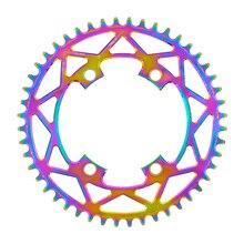 PASS QUEST X110 / 4 BCD 110BCD Titanium-plated Round Road Bike Narrow Wide Chainring  40T-52T R2000 R3000 4700 5800 6800 DA9000