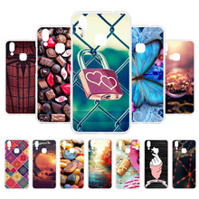 3D DIY Painted Cases For Vivo X21 Case Back Cover Fundas Soft Silicone Butterfly Coque Housings